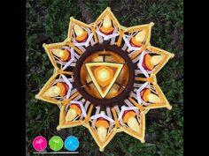 Mandala Tercer Chackra - YouTube Eye Mandala, Mobiles, God's Eye Craft, Gods Eye, Weaving Art, String Art, Interior Design Living Room, Candles, Instagram