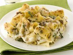 pasta-al-gratin-con-funghi-e-mozzarella