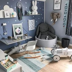 Oh this is a lovely kid's room. My little boy would love it!
