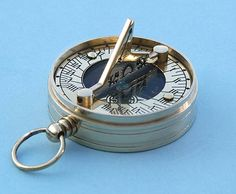 Small Brass Pocket Sundials with Magnetic Compasses from Stanley ...