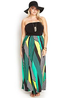 Geo Striped Maxi Dress | FOREVER 21 - 2000060818