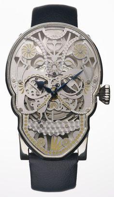 skull watch