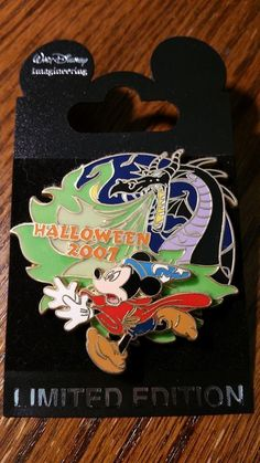Disney Pin WDI Halloween Sorcerer Mickey with Maleficent as a Dragon 2007 LE 300