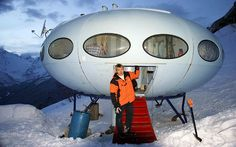 Futuro house in Russia available for rent.