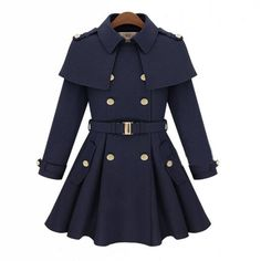 Buy New fashion winter Double Breasted Women's Outerwear Lady's Slim Wool Coat Winter Cloak Cape Coat Winter Jacket at Wish - Shopping Made Fun Polo Coat, Outfit Vestidos, Wool Trench Coat, Cape Coat, Belted Coat, Fur Cape, Wool Cape, Tweed Coat, Parka Coat