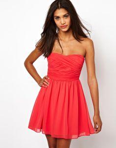 Asos Soft Bandeau Skater Dress - Cream on shopstyle.com