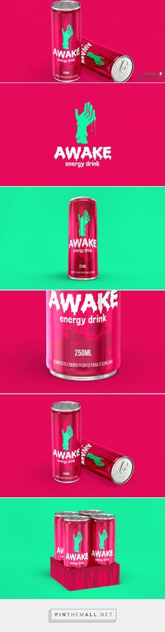 Awake Energy Drink - Daily Package Design InspirationDaily Package Design Inspiration |... - a grouped images picture - Pin Them All