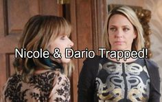"""""""Days of Our Lives"""" (DOOL) spoilers tease that Nicole (Arianne Zucker) will have a tough battle on her hands. Kate (Lauren Koslow) is doing"""