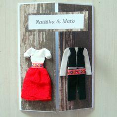 my folk wedding card in red colours