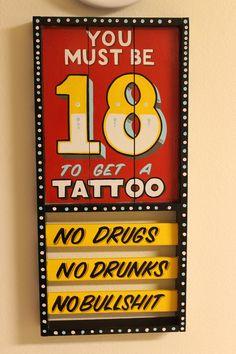 tattoo shop rules | Tattoo Shoppe | Pinterest | Tattoos ...