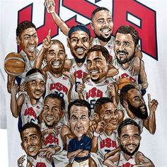 Nike USA Men's Basketball 2012 Olympics Roster T-Shirt