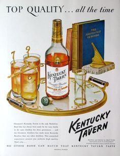 1950 Kentucky Tavern whiskey ad from #RetroReveries