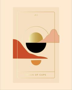 "SOL & NOX Tarot Deck on Instagram: ""SOL / 07 Seven of Cups Upright: Illusion, opportunities, choices, daydreaming. Reverse: Personal values, lack of purpose, confusion…"""