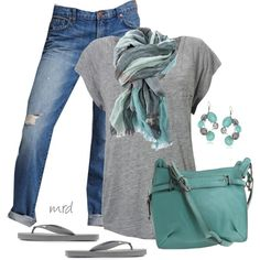 A fashion look from July 2012 featuring French Connection t-shirts, J Brand jeans and Kooba handbags. Browse and shop related looks.