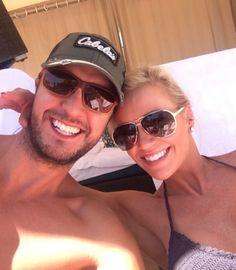 "Luke Bryan (with wife Caroline Boyer): ""Chillin"