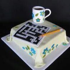crossword cake - Google Search