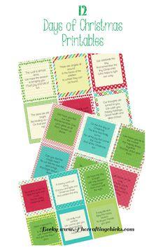 12 Day of Christmas Printables