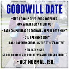 An Activity You Must Do With Your Friends – Goodwill Date – Living in Yellow - Modern Romantic Date Night Ideas, Romantic Dates, Romantic Gifts, Friend Activities, Activities For Adults, Reasons To Get Married, Group Dates, Romance Movies, True Romance