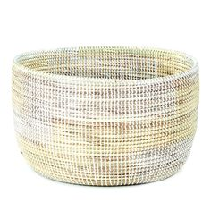 Woven Storage Basket - Cream & White Stairstep #connectedgoods