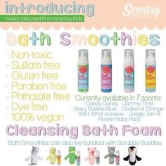THE KIDDOS ARE LOVING THESE FROM SCENTSY! Kids will love to watch it magically transform into foam right out of the pump! And you'll love how this sulfate-free hair and body wash gently cleans from head to toe, leaving nothing behind but smiles and kid-friendly fragrance. 6.7 fl. oz.