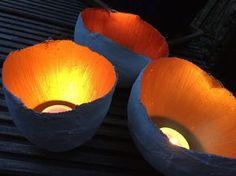Goldene Schale – Teelichthalter aus Gips