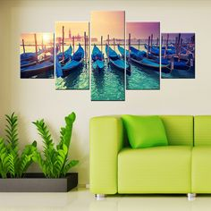 Frame: No Technics: Spray Painting Original: No Frame mode: Unframed Subjects: Seascape Medium: Oil Shape: Rectangle Type: Canvas Printings Style: Modern Form: Multi-picture Combination Material: Canv