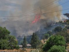 The #TowsleyFire has burned at least 8 acres with @LACoFireAirOps dropping water from above