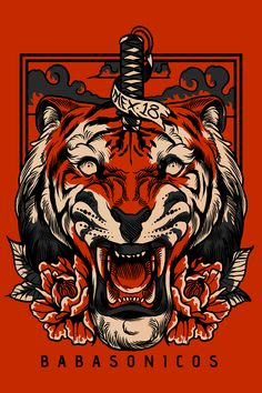 For this Daily we are selecting in digital art, graphic design, photography, illustration and more; Tiger Illustration, Japanese Artwork, Japanese Tattoo Art, Art Sketches, Art Drawings, Tiger Art, Samurai Art, Tiger Tattoo, Asian Art