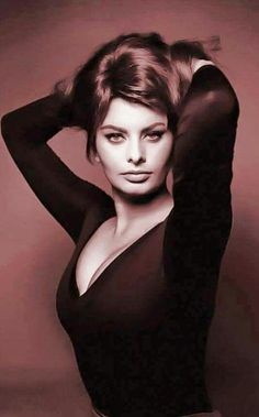 "Sophia Loren. My first love. I think it was love at first sight, ""El Cid"", 1961. I just couldn't help myself... MMc"