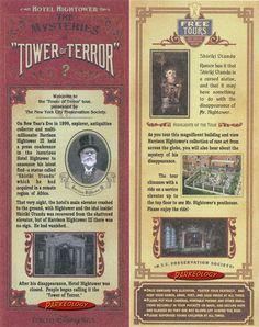 Amazing Storytelling - Tower of Terror Story Card, from Tokyo DisneySea Disney Nerd, Disney Marvel, Disney Love, Disney Magic, Disney Parks, Walt Disney, Disney Stuff, Disneysea Tokyo, Tokyo Disneyland Resort