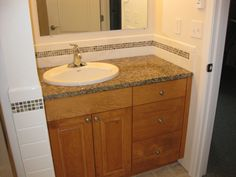 Bathroom Sink Backsplash Ideas | Slate Tile Backsplash, Mosaic ...