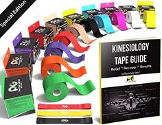 Kinesiology Tape - Pain Relief Adhesive - Best Therapeutic Muscle Support Aid -FREE 82pg EBOOK Taping Guide- Sports Wrap for Plantar Fasciitis Shin Splints Knee Elbow Wrist Back Shoulder Ankle & Neck Physix Gear Sport http://www.amazon.com/dp/B012G0YSMW/ref=cm_sw_r_pi_dp_zpKTwb03D2GBR
