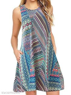 Buy Casual Dresses Summer Dresses For Women at JustFashionNow. Online Shopping Justfashionnow Casual Dresses Floral Dresses Holiday Shift Crew Neck Sleeveless Casual Floral-Print Dresses, The Best Holiday Summer Dresses. Dress Outfits, Casual Dresses, Casual Clothes, Bodycon Dress Parties, Summer Dresses For Women, Dress Summer, Spring Summer, Summer Beach, Plus Size Dresses