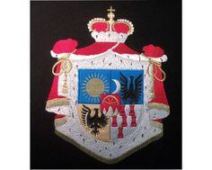 Herb rodowy/herb szlachecki RAKOCZY - AHA STUDIO Pracownia Haftu Artystycznego | HAFT ARTYSTYCZNY -HERBY, SZTANDARY, PROPORCZYKI coats of arms  cena 250 zł.   ZAMÓW