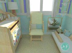 Projetinho lindo de quarto de bebê sem berço