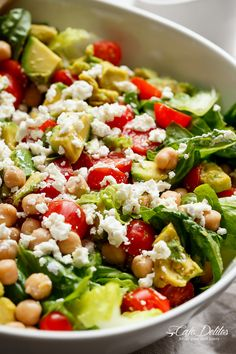A simple Balsamic Chickpea Avocado Feta Salad full of Summery vibrant colours and flavours. Ready in under 5 minutes as a side or main! Vegetarian Recipes, Cooking Recipes, Healthy Recipes, Lentil Salad Recipes, Vegetarian Salad, Budget Recipes, Healthy Options, Chickpea Salad, Deep Dish