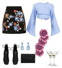 """Untitled #62"" by agnesenapoli on Polyvore featuring Topshop, Rosie Assoulin, Yves Saint Laurent, Nordstrom, LULUS, Ippolita and Gucci"