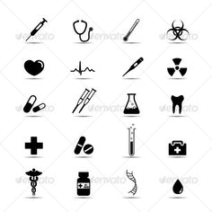 Buy Black and white medical icons by candycat on GraphicRiver. Set of simple black and white medical icons. Each icon is on its own layer and labled. Drug Tattoos, Pisces Tattoos, Body Art Tattoos, Biohazard Tattoo, Caduceus Tattoo, Tool Tattoo, Medical Icon, Stick N Poke Tattoo, Medical Design
