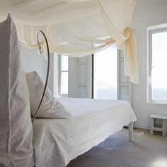 My inspiration files are filled to the brim w/ this new home, but there's always room for an international pick, yes? Behold, a few pretty Grecian finds from Marie Claire Maison: All White Bedroom, Master Bedroom, Airy Bedroom, Dream Bedroom, Seaside Bedroom, Calm Bedroom, Canopy Bedroom, Bedroom Retreat, Deco Design