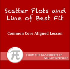 Algebra I - Scatter Plots and Line of Best Fit Common Core Aligned Lesson Math 8, Teaching Math, Line Of Best Fit, Scatter Plot, Linear Function, Algebra 1, Common Core Math, Classroom, How To Plan