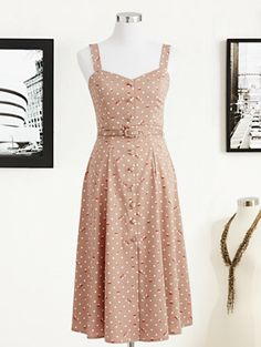 Eva Mendes Collection - Annabelle Dress - Polka-Dot Rose Print - New York & Company
