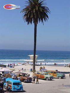 Wavecrest Woodie Car Show Moonlight Beach Encinitas CA