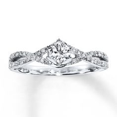 HEARTessence Ring 1/2 ct tw Diamonds 14K White Gold