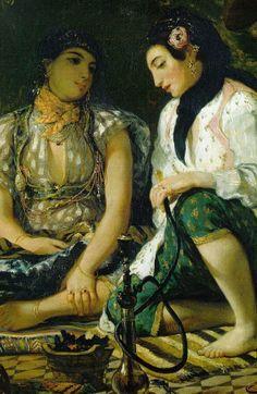 Eugène Delacroix「Vrouwen van Algiers」(1834)