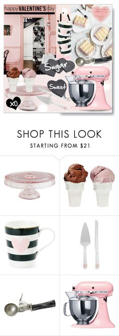 """""""Happy Valentine's Day!  Cake & Ice Cream!"""" by calamity-jane-always ❤ liked on Polyvore featuring interior, interiors, interior design, home, home decor, interior decorating, Pier 1 Imports, Sin, Lenox and GO Home Ltd."""