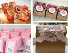 hangover kits / welcome kits in paper bags with ribbons