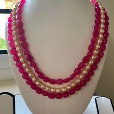 Royal Jewelry, Pearl Jewelry, Indian Jewelry, Jewelry Sets, Gold Jewelry, Jewelery, Bead Necklaces, Bead Jewellery, Beaded Jewelry