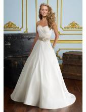 2013 Elegantes Brautkleid aus Satin A-Linie mit Band