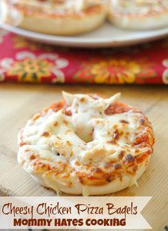 Cheesy Chicken Pizza Bagels