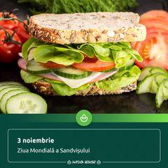 """Lordului Sandwich îi datorăm popularitatea sandvișurilor ca modalitate de a consuma o masă """"pe fugăʺ. Astăzi, sandvișurile sunt preferatele multora dintre noi pentru pachețelul de la serviciu sau de la școală, în diferite combinații delicioase, ba chiar i se dedică și o zi specială, pe data de 3 noiembrie. Noi îți recomandăm sandvișurile cu felii de pâine integrală, multe legume și feliuțe de carne slabă, pentru un mic dejun gustos și sănătos. Natur House, Health Fitness, Diet, Healthy, Food, Essen, Meals, Health, Fitness"""